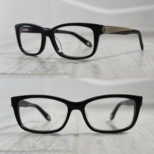 Givenchy Black Glasses Gold Art Deco Accents 898VN